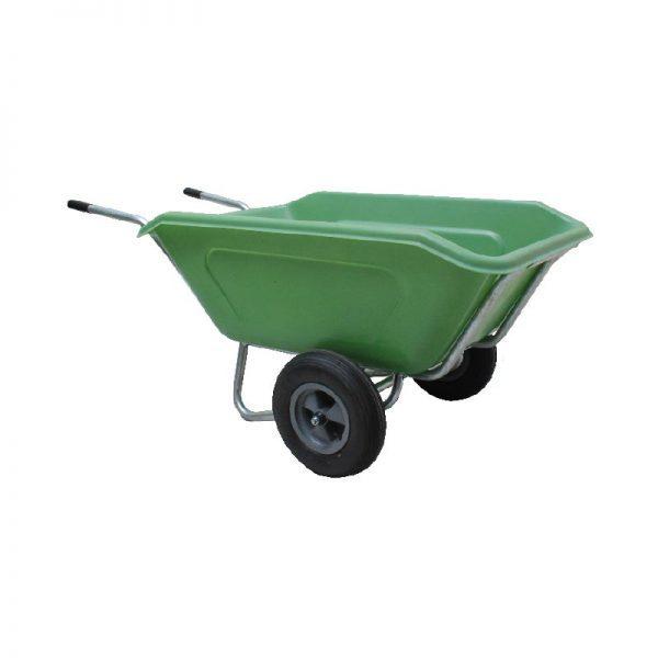 ROTO samokolnica EQ2 dvoosna 350 l zelena