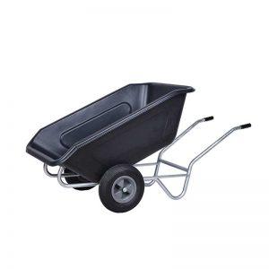 ROTO kiper samokolnica MPK 350 L dvokolesna črna polna kolesa