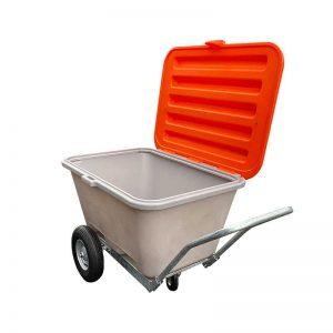 FKT voziček 330 L s pokrovom oranžno/siva