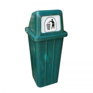 ROTO koš za smeti pokončen zelen