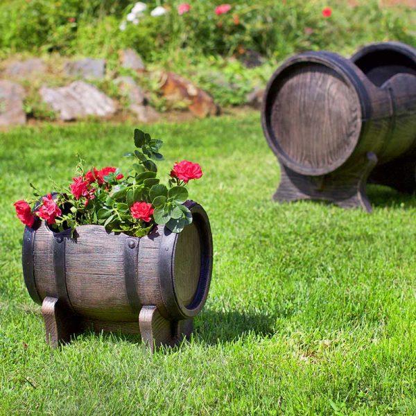 ROTO cvetlično korito Salsa vrtna dekoracija rdeče rože