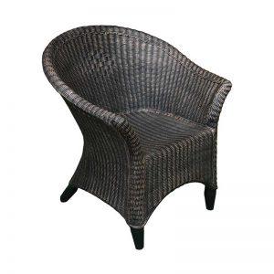 ROTO Vrtno pohištvo Ratan stol piknik bakrena imitacija lesa