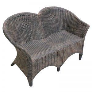 ROTO Vrtno pohištvo Ratan stol klop sofa piknik bakrena imitacija lesa