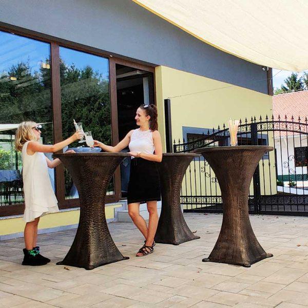 ROTO Vrtno pohištvo Party miza stoli piknik imitacija lesa