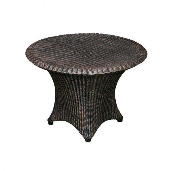 ROTO Vrtno pohištvo Ratan nizka miza piknik bakrena imitacija lesa