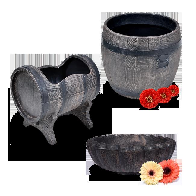 ROTO cvetlična korita in ločki za zasaditev rož spomladi Bolero, Marjetica, Salsa