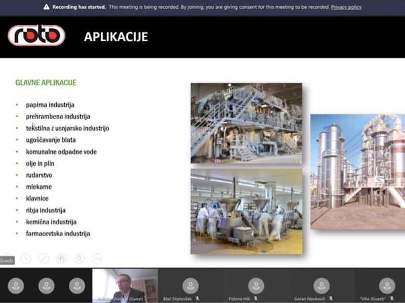 ROTO zelena tehnologija vlaganje razvoj čistilne naprave rezervoarji za vodo Slovenian Business Club Webinar Ekoling industrijske čistilne naprave