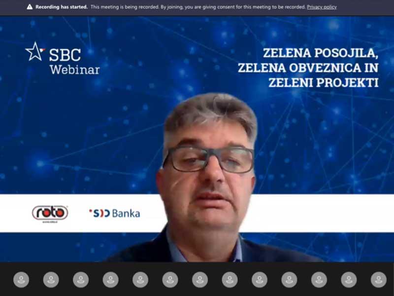 ROTO zelena tehnologija vlaganje razvoj čistilne naprave rezervoarji za vodo Slovenian Business Club Webinar