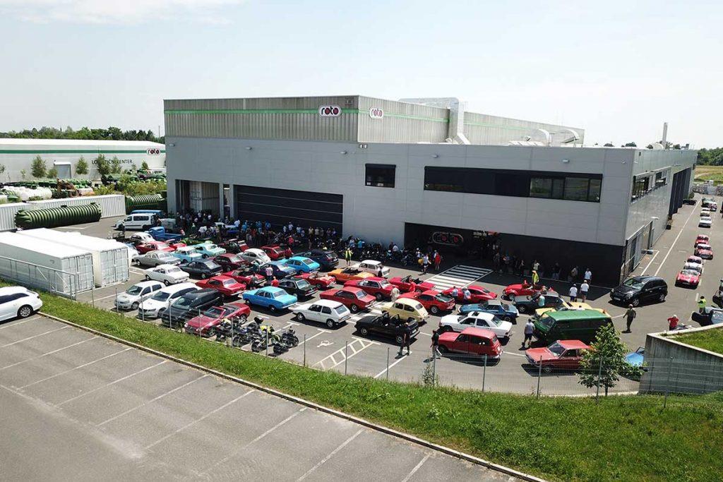 Roto Slovenija 104 starodobnikov obiskalo ROTO avtomoto klub starodobniki